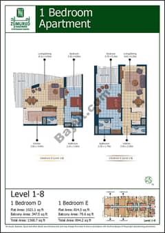 1 Bedroom Type (D,E)