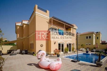 5 Bedroom Villa for Sale in The Villa, Dubai - 5BR + Maid's Room B2 Mazaya Villa in a Quiet Location