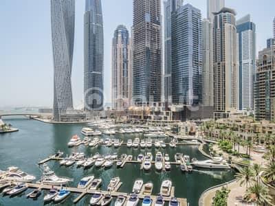 3 Bedroom Flat for Rent in Dubai Marina, Dubai - Full marina view 3BR+maid next to Damac metro