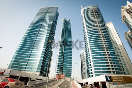 Office for Rent in Jumeirah Lake Towers (JLT), Dubai - Fitted and partitioned office   Jumeirah Bay X2   Community view