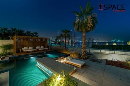 4 Bedroom Villa for Rent in Palm Jumeirah, Dubai - Marlble Flooring - Veneer Walls - landscaped Garden