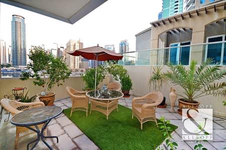 2 Bedroom Apartment for Rent in Dubai Marina, Dubai - Marina View   Low Floor   Garden Terrace