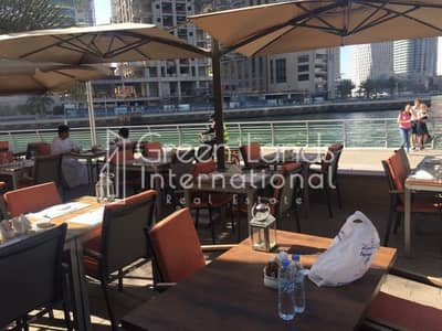 Shop for Sale in Dubai Marina, Dubai - Restaurant water side in Marina walk/ indoor and outdoor area