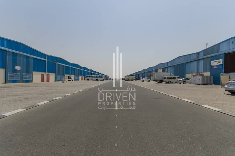 14 Multiple warehouse units in Dubai Industrial City.