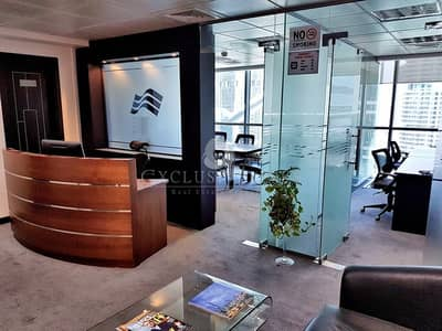 Office for Sale in Jumeirah Lake Towers (JLT), Dubai - Furnished and Equipped Office For Sale