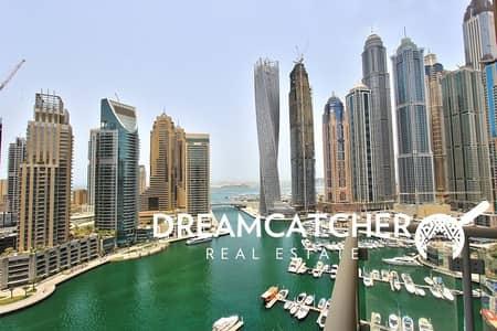 2 Bedroom Flat for Rent in Dubai Marina, Dubai - 2 beds with Partial Marina View