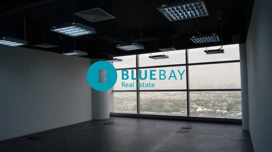 Office for Rent in Dubai Media City, Dubai - Fitted Office with Glass Partitions in Shatha Tower