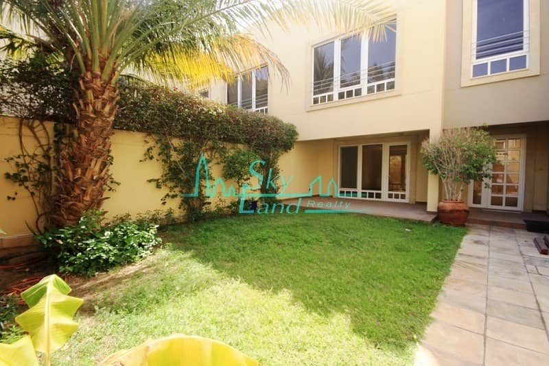 MODERN 5BR+MAID'S VILLA WITH GARDEN IN A COMPOUND WITH POOL