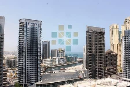 1 Bedroom Apartment for Rent in Dubai Marina, Dubai - Unfurnished - Close to metro - Marina and Sea view