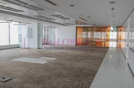 Floor for Rent in Sheikh Zayed Road, Dubai - Full Floor with 16 Full Glass Partitions