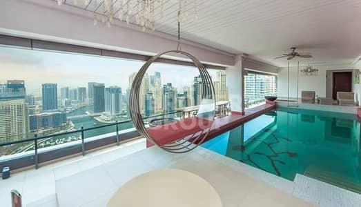 4 Bedroom Penthouse for Rent in Dubai Marina, Dubai - Spectacular full floor penthouse Marina