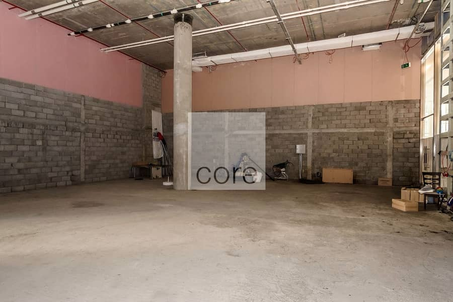 2 Available shell and core retail space