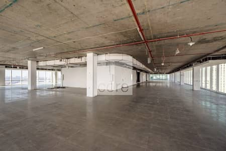 Office for Rent in Downtown Jebel Ali, Dubai - Shell and core Office space I 8206 sqft