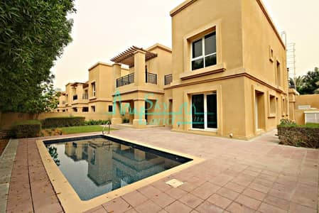 4 Bedroom Villa for Rent in Emirates Golf Club, Dubai - BEAUTIFUL 4BR+M VILLA WITH PRIVATE POOL IN EMIRATES GOLF CLUB RESIDENCES