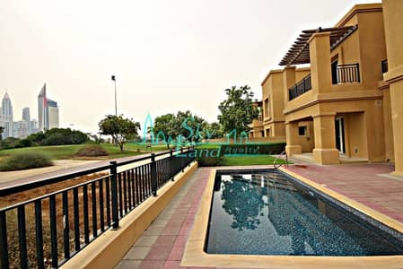 4 Bedroom Villa for Rent in Emirates Golf Club, Dubai - BEAUTIFUL 4BR+M VILLA WITH PRIVATE POOL  AND GOLF COURSE VIEW IN EMIRATES GOLF C