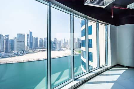 Office for Rent in Business Bay, Dubai - Combined fitted offices with canal view