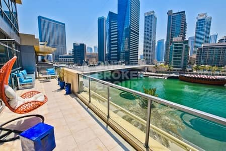 3 Bedroom Villa for Rent in Dubai Marina, Dubai - Upgraded Rare 3 Bed + Maid Triplex Villa
