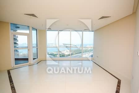 3 Bedroom Apartment for Rent in Dubai Marina, Dubai - Palm View - AC Free - Vacant - Mid Floor