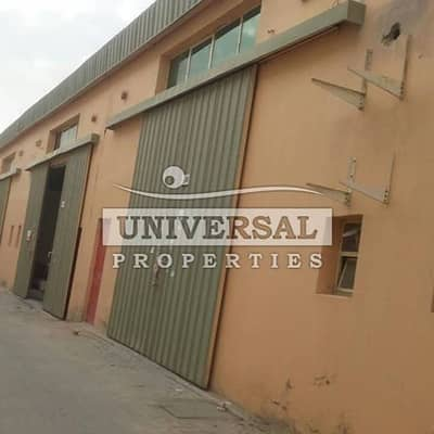 Warehouse for Rent in New Industrial City, Ajman - SPACIOUS WAREHOUSE AVAILABLE   FOR RENT  40 KW  ELECTRICITY IN INDUSTRIAL AREA AJMAN .