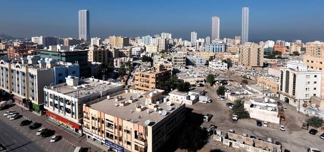 2 Bedroom Apartment for Rent in Al Nakhil, Ajman - Commercial Building -Very Specious 2 Bedroom Hall & balcony