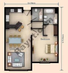 1 Bedroom Apt V Type Building