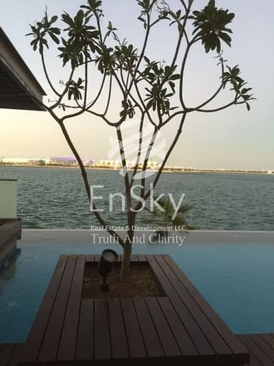 5 Bedroom Villa for Sale in Al Raha Beach, Abu Dhabi - Sea Front Villa with Pvt Pool And Parking Available