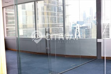 Spacious office on a high floor with stunning JLT view