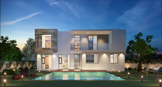 Modern Independent Villa Huge Area And 0 Service Charge In The Best Project In Sharjah