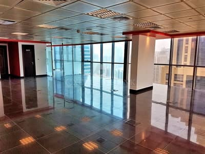 Office for Rent in Jumeirah Lake Towers (JLT), Dubai - Nice View Corner Fitted Office for Rent