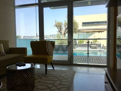 5 Bedroom Villa for Sale in Al Raha Beach, Abu Dhabi - Absolute Seafront VIP Villa-Call to view