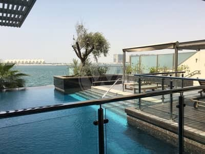 5 Bedroom Villa for Rent in Al Raha Beach, Abu Dhabi - Absolute Seafront VIP Villa-Call to view