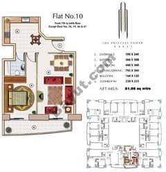 Floors (7-64) Flat 10 1Bedroom Except Floor (18,19,46,47)