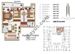 Floors (65-72) Flat 4 Duplex Upper Level 4Bedroom