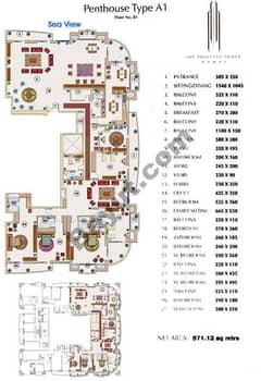 81st Floor Penthouse Type A1 5Bedroom