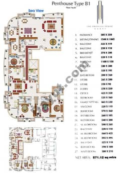 81st Floor Penthouse Type B1 5Bedroom