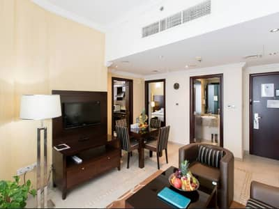 1 Bedroom Flat for Rent in Al Barsha, Dubai - Direct from Landlord Fully Furnished 1BHK, AC Free