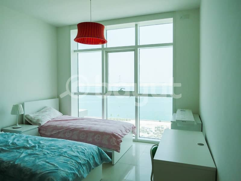 13 MONTHS  !!  Full Sea View 3 Master Bedroom Starting AED 110 K - SEA FACE TOWER