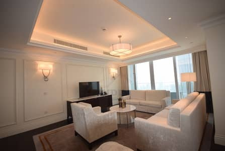 4 Bedroom Flat for Rent in Downtown Dubai, Dubai - Spectacular view of Burj Khalifa and fountain