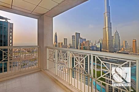 2 Bedroom Apartment for Rent in Downtown Dubai, Dubai - Two Bedrooms | Balcony | Fountain Views
