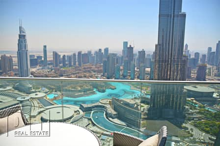2 Bedroom Apartment for Rent in Downtown Dubai, Dubai - Rare W Full Fountain View Largest Layout