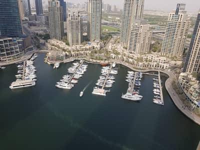 3 Bedroom Flat for Rent in Dubai Marina, Dubai - Full Marina View and Partial Sea View