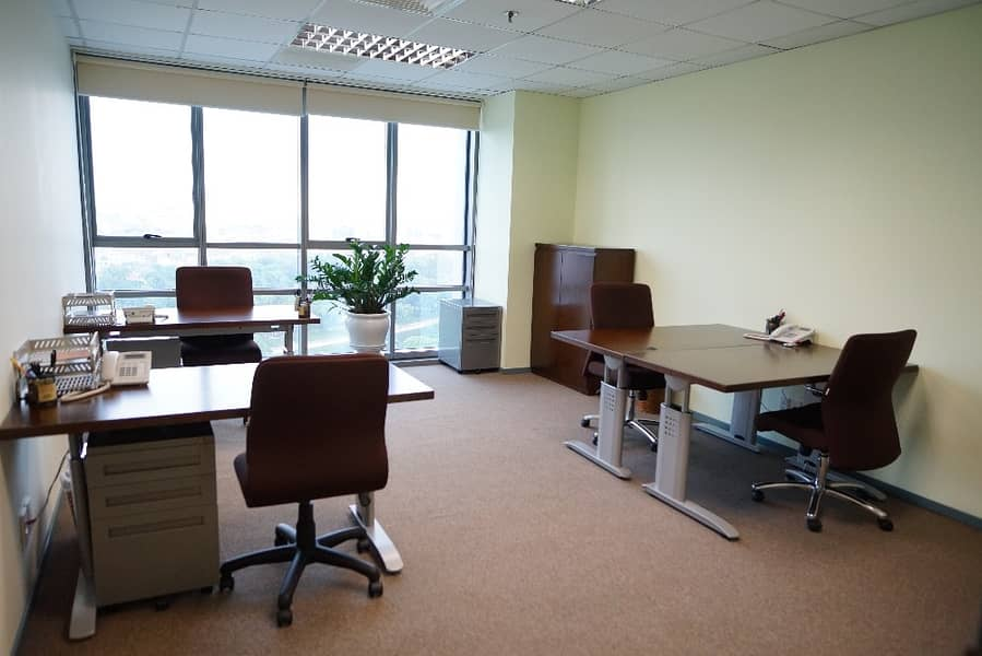 For rent furnished offices including all services in Sheikh Zayed Road, Brand new offices !!