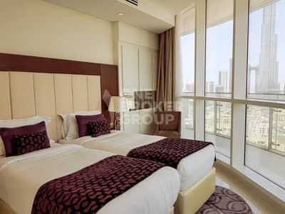 2 Bedroom Flat for Rent in Downtown Dubai, Dubai - Dream View|2B|High Floor|Hotel Apartment