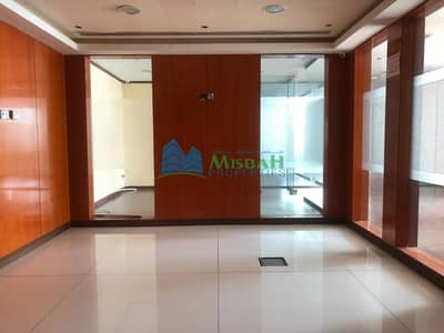 Office for Rent in Deira, Dubai - Free Chiller 2250Sq.ft Fully fitted partitioned office with parking near Deira City Center