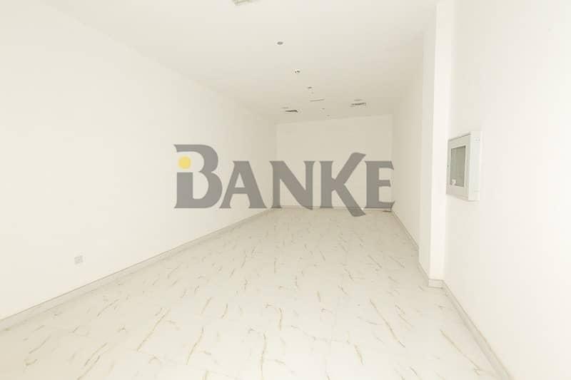 2 months Free: Fitted Retail shop 70k in 6 chqs Al Barsha 1 Dubai