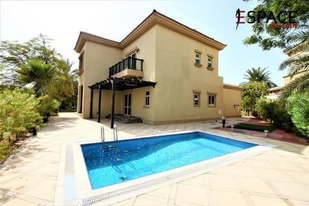 4 Bedroom Villa for Rent in Jumeirah Islands, Dubai - Backing Clubhouse | Well Maintained | EF