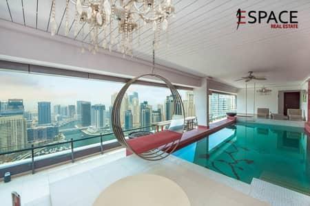 4 Bedroom Flat for Rent in Dubai Marina, Dubai - Fully Upgraded - Unique - Panoramic view