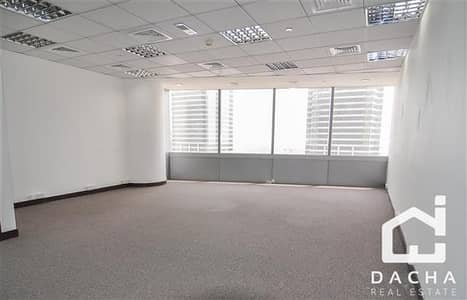 Office for Rent in Jumeirah Lake Towers (JLT), Dubai - Partially fitted office in Silver Tower