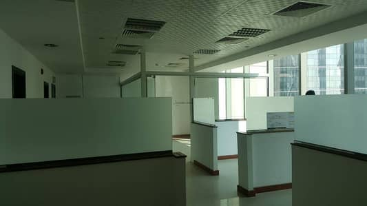 Fully fitted office with partition in Business Bay