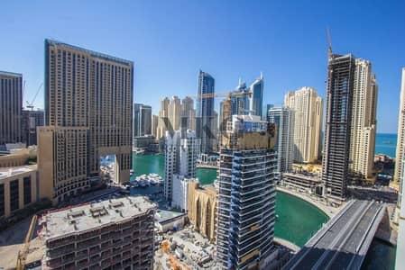 1 Bedroom Flat for Rent in Dubai Marina, Dubai - High Floor  Full Marina view  1 Bedroom
